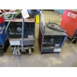 Lot 35 - (2) MILLER DIALARC TIG WELDERS W/CART (ONLY 1 W/CART)