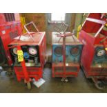 Lot 28 - (2) HOBART TR300 TIG WELDERS W/CARTS, CUT POWER CORDS