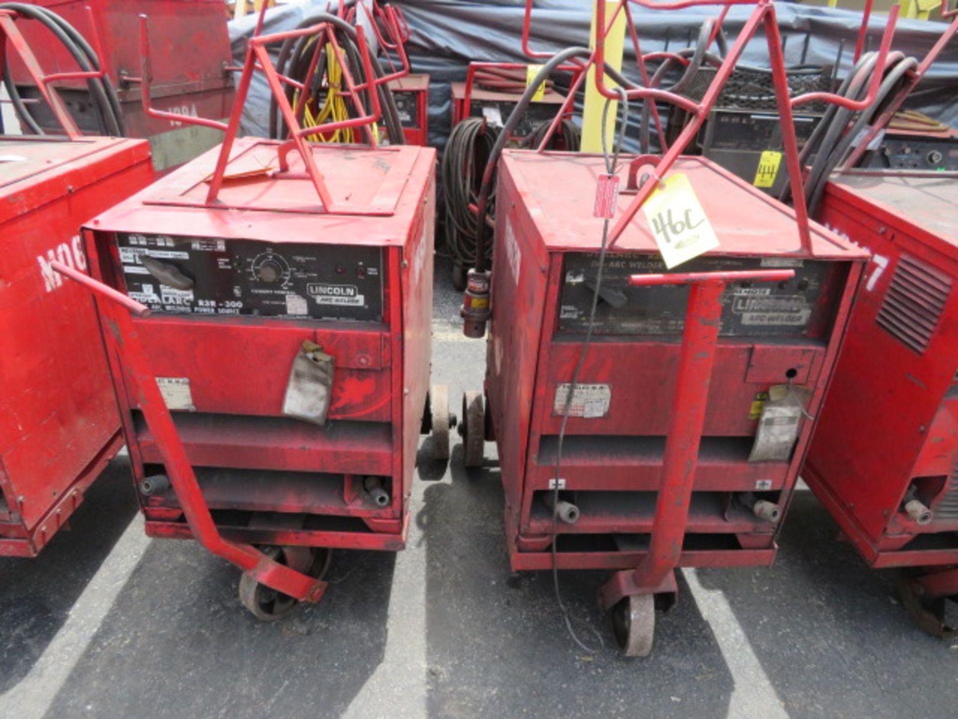Lot 46C - LINCOLN IDEALARC R3R 300 TIG WELDER W/ CART