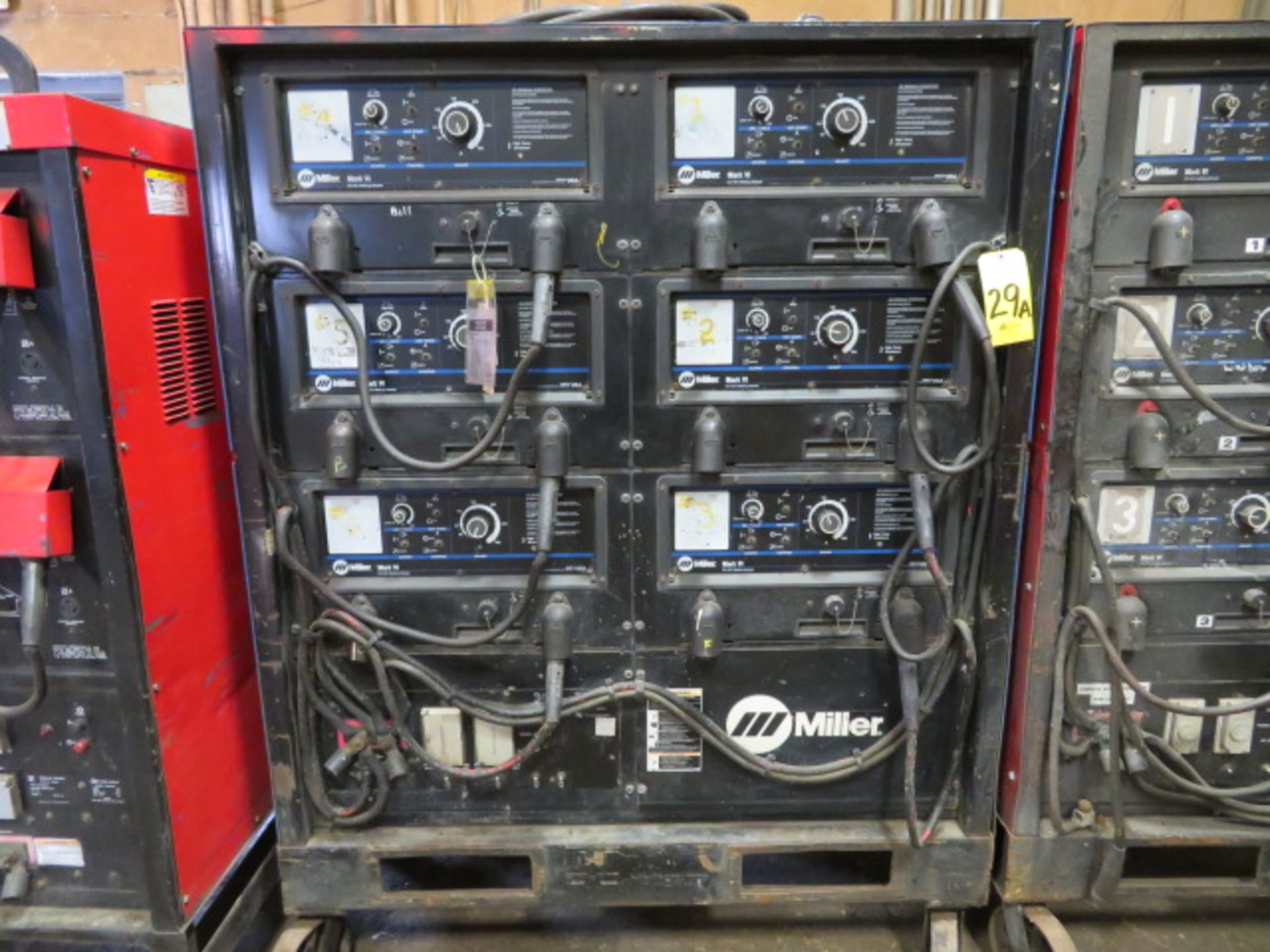 Lot 29A - 2000 MILLER MARK VI 6-MODULE MULTIPLE OPERATER CC/DC MIG WELDER 2000 MILLER MARK VI 6-MODULE
