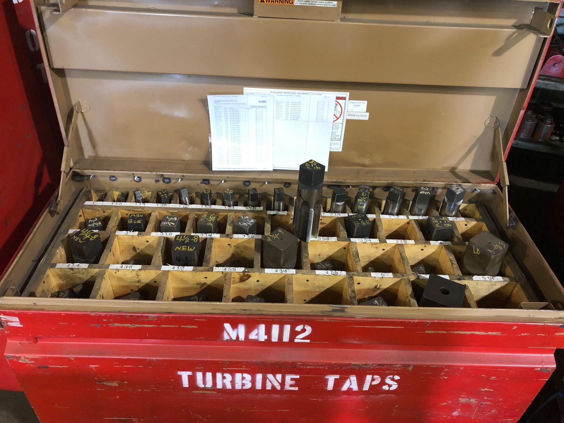 "Lot 0G - TURBINE TAP JOBSITE BOX (INCLUDING 1"" - 6"" TAPS)"