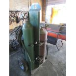 OXY-ACETYLENE BURNING OUTFIT,2-BOTTLE CART, TORCH, GAUGES