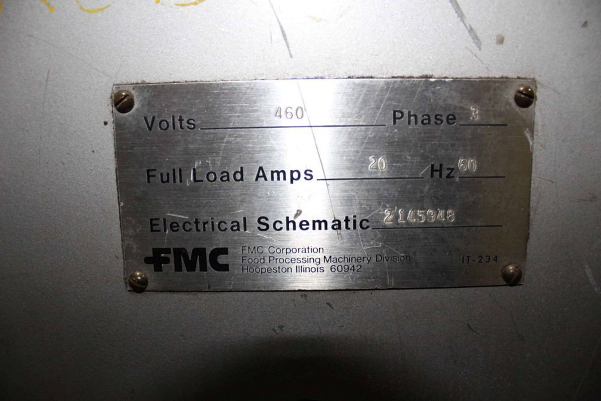 Lot 20638RB - FMC BCP-310 Brite Can Palletizer