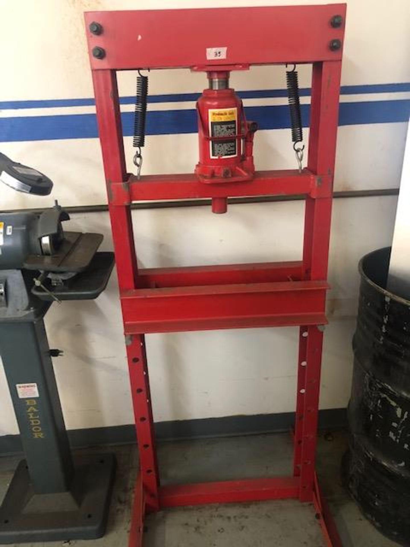 Lot 35 - MSC Industrial Supply Co. hydrolic press, 20 ton capacity