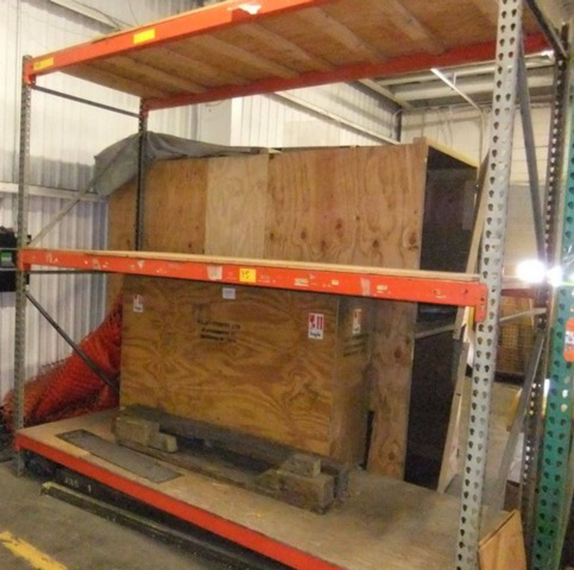 Lot 35 - LOT: SECTION PALLET RACKING W/ CONTENTS