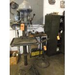 """LOT: WALKER TURNER 1/2"""" DRILL PRESS W/ (2) WORKSTANDS; TABLE & CONTENTS"""