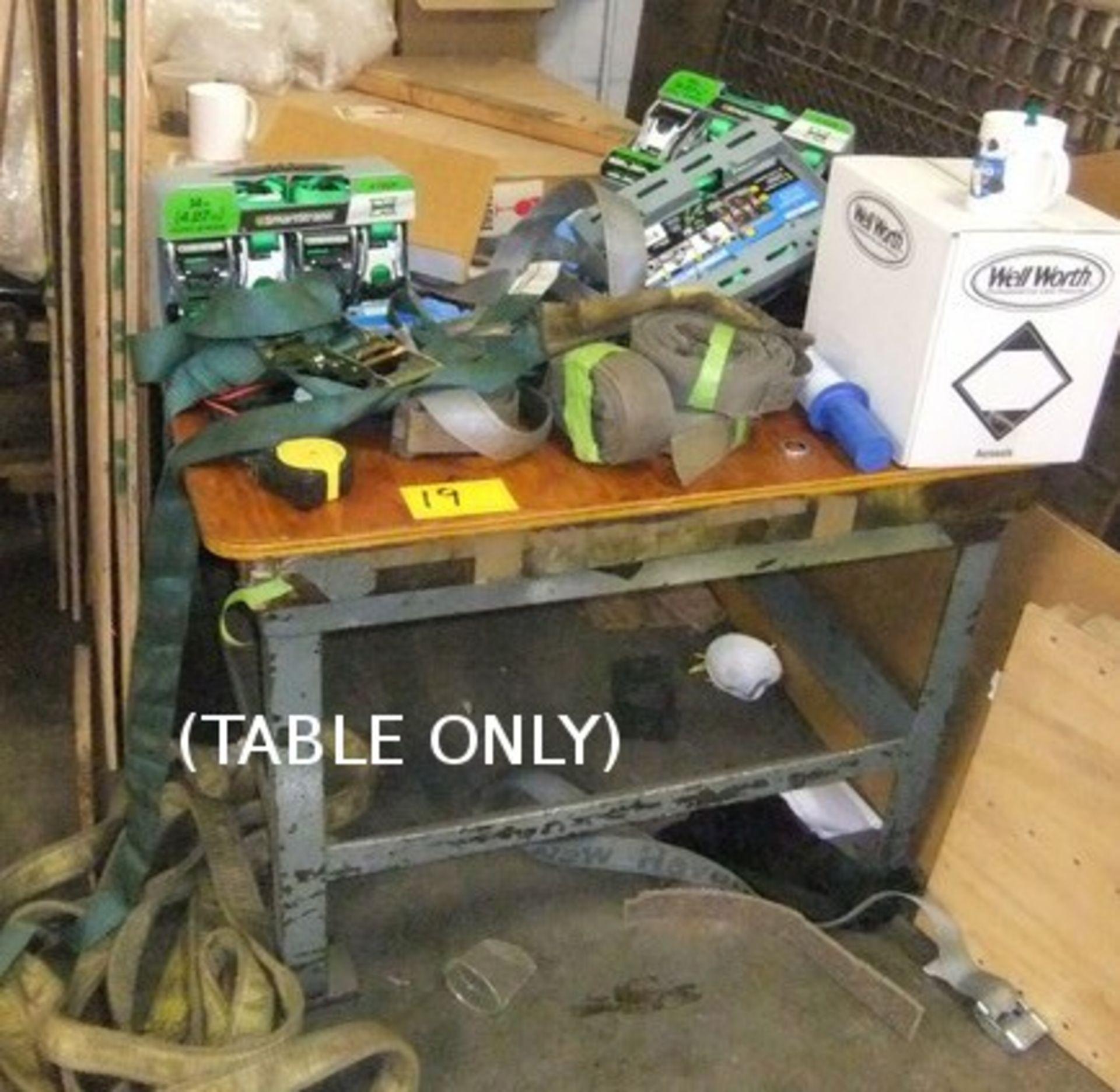 Lot 19 - METAL BASE TABLE