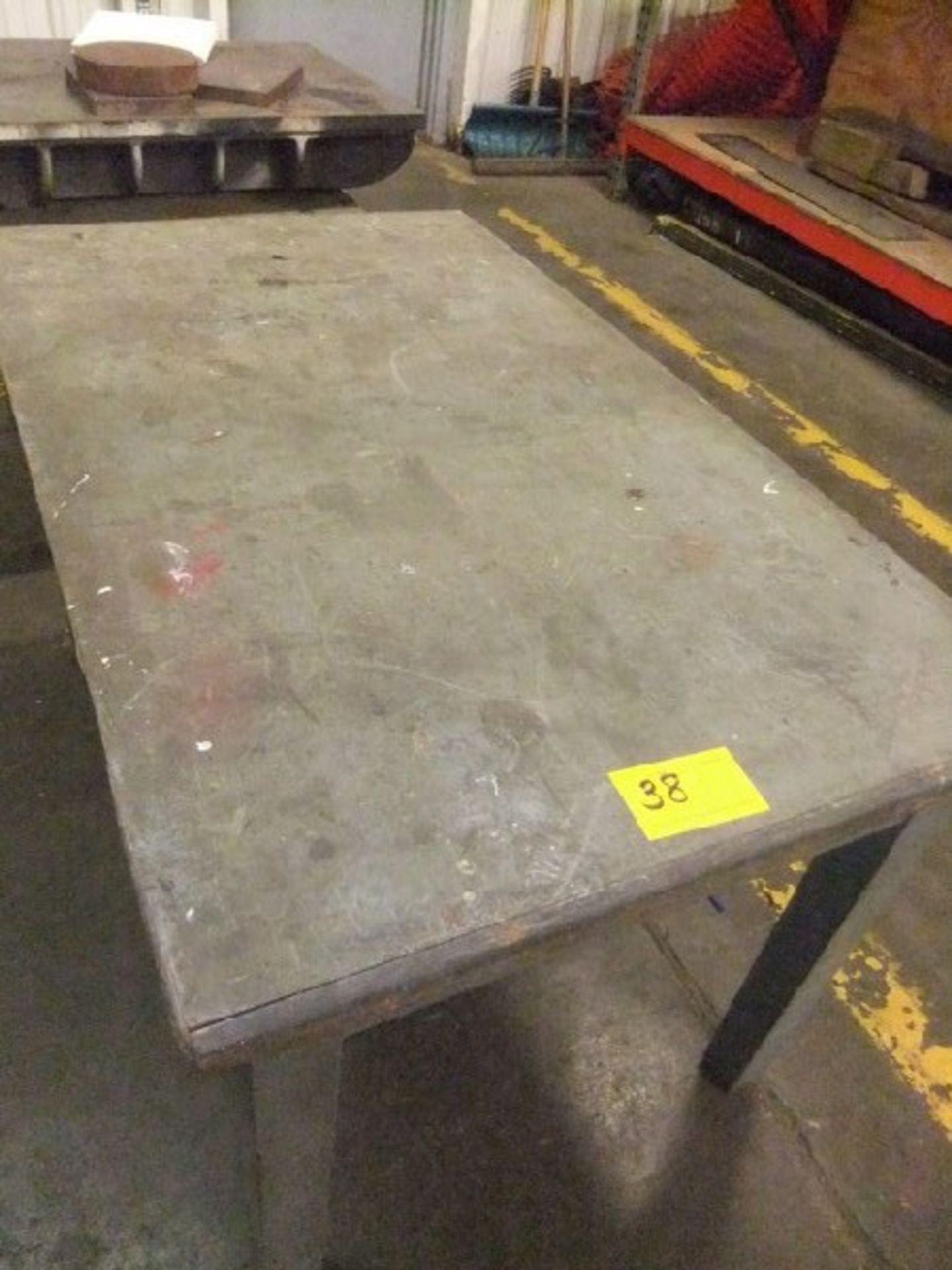 Lot 38 - METAL BASE W/ TABLE