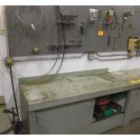 LOT: METAL CABINET W/ CONTENTS & CONTENTS OF WALL RACK