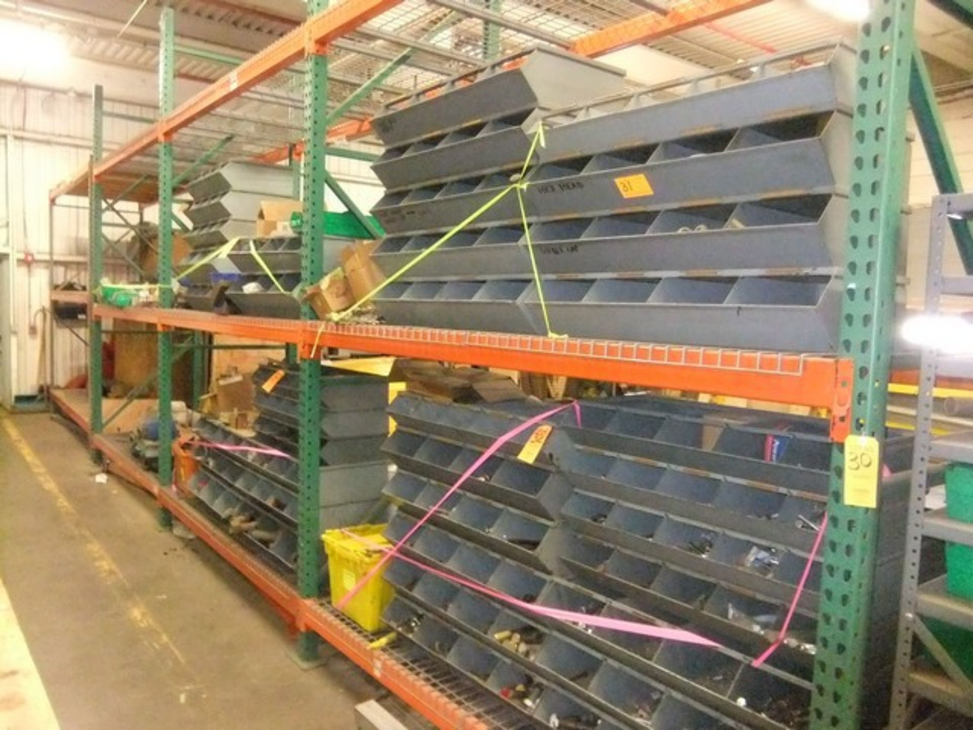 Lot 30 - LOT: (3) SECTIONS PALLET RACKING