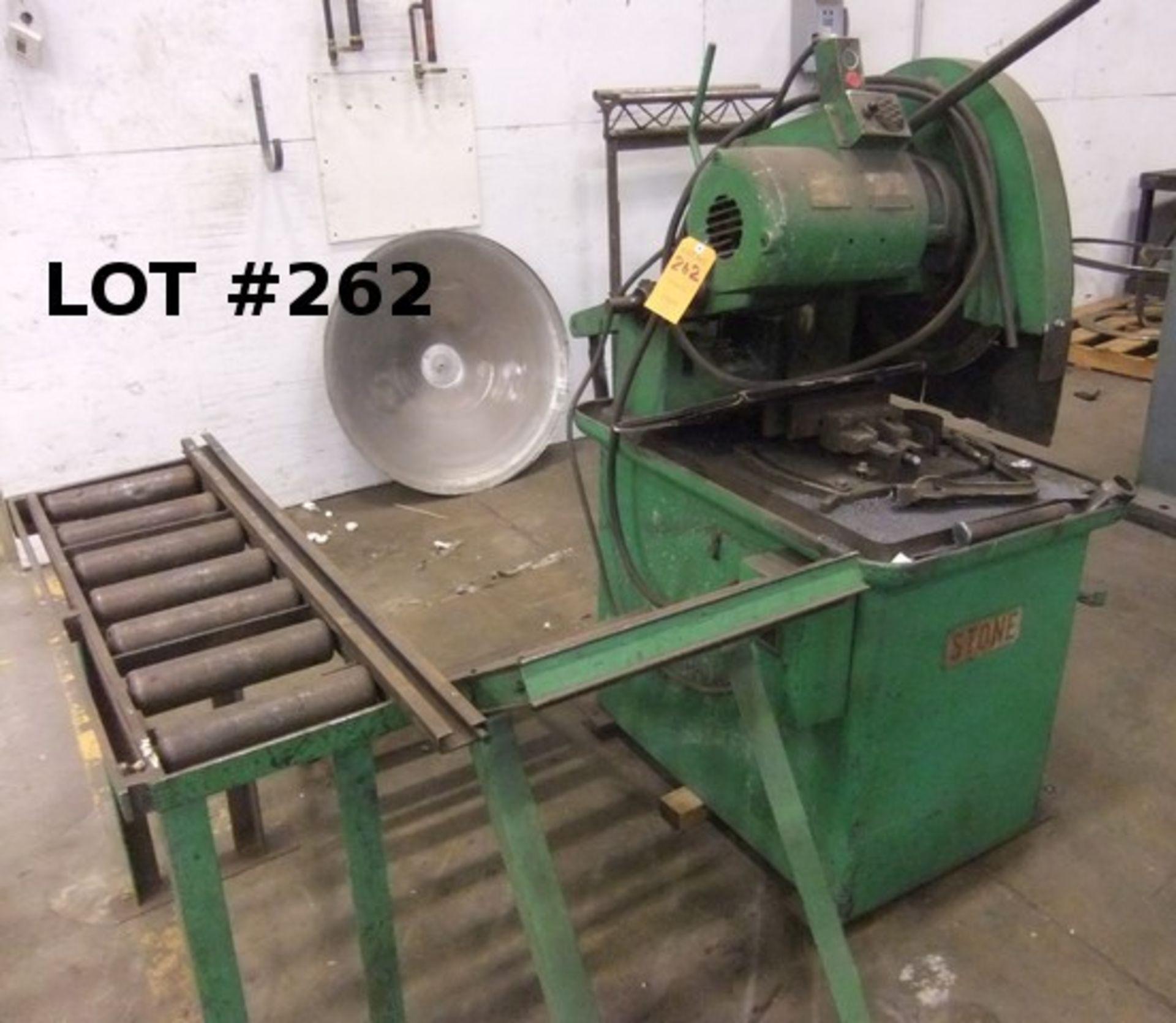 "Lot 262 - STONE MACHINERY 20"" CUT-OFF SAW W/ CONVEYOR, #0183"