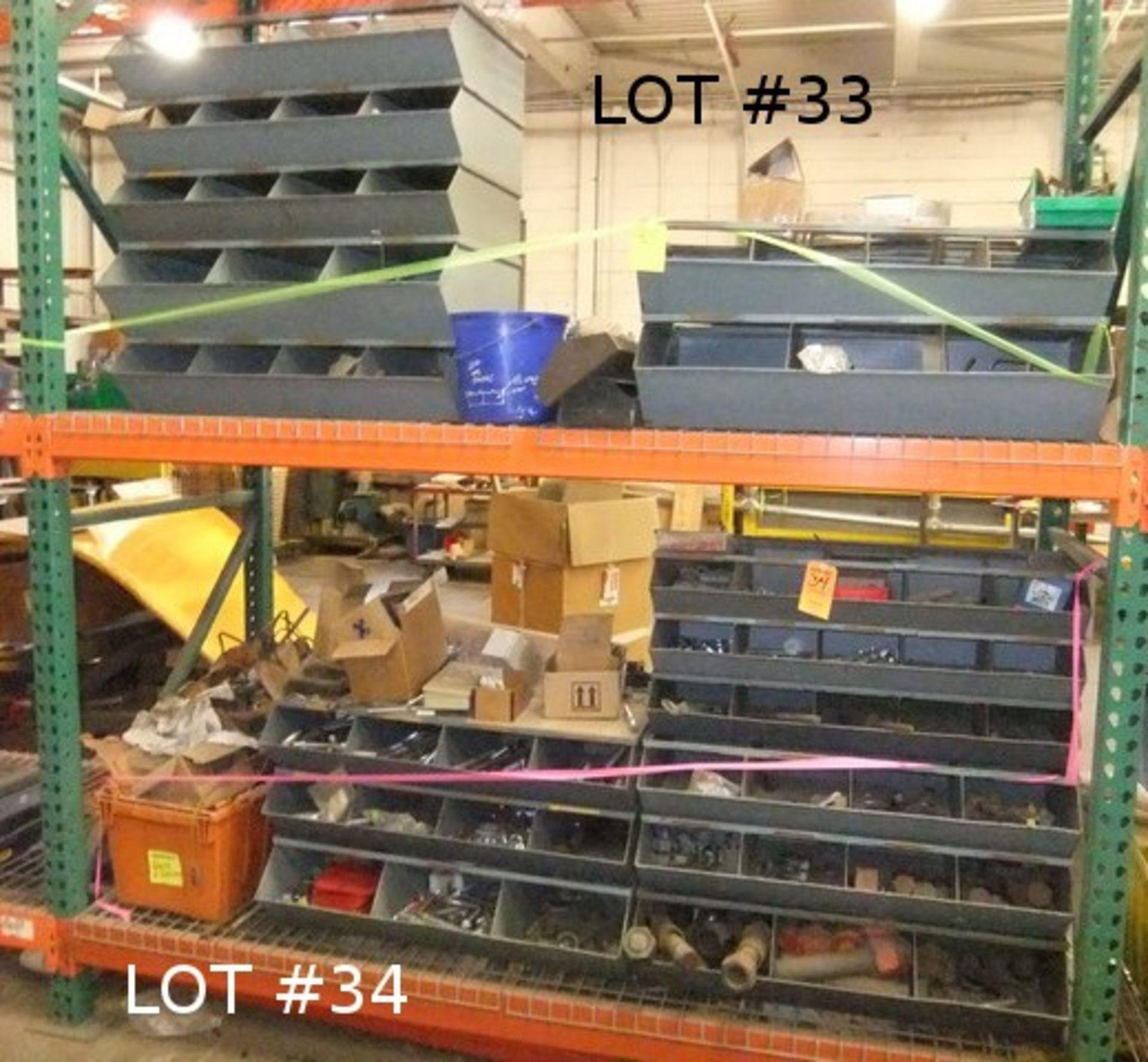 Lot 34 - LOT: BINS W/ CONTENTS - FASTENERS