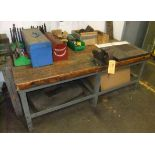 LOT: TABLE W/ CONTENTS