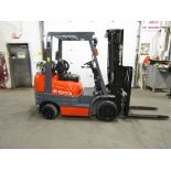 Lot 169 - Toyota 5000lbs Capacity Forklift with 3-stage mast and sideshift - LPG (propane) (no propane tank