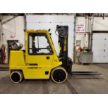 Lot 163A - Hyster 15500lbs Capacity Forklift HEATD CAB with 3-stage mast and sideshift - LPG (propane) with