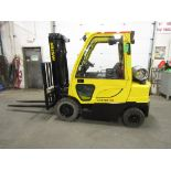 Lot 170A - 2011 Hyster 5000lbs Capacity OUTDOOR Forklift with Enclosed CAB with sideshift - LPG (propane)