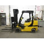 Lot 165 - 2012 Yale 8000lbs Capacity Forklift with 3-stage mast and sideshift - LPG (propane) (no propane tank