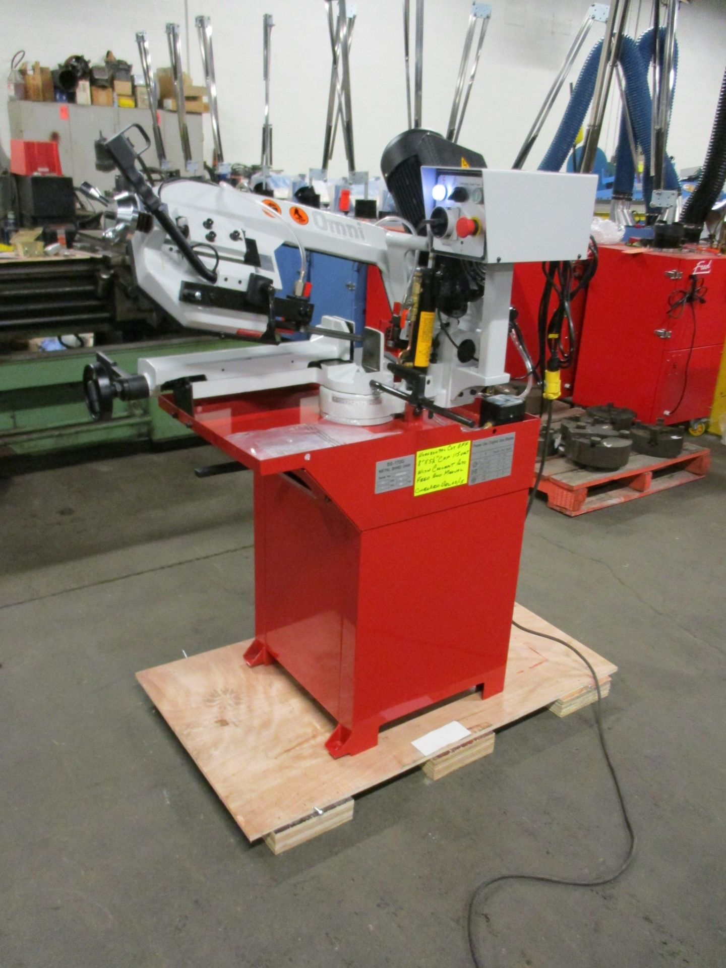 Lot 256 - Omni Horizontal Band Saw - GEAR DRIVEN MOTOR with POWER HEAD with Automatic & Manual cut - MINT &