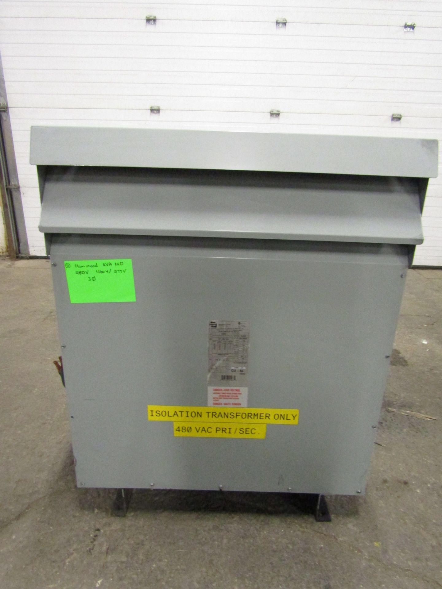 Lotto 295 - Hammond 150 KVA Electrical Transformer - 480V to 480Y / 277V 3 phase