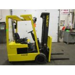 Lot 177 - Hyster 3000lbs Electric Forklift with sideshift 3-wheel unit