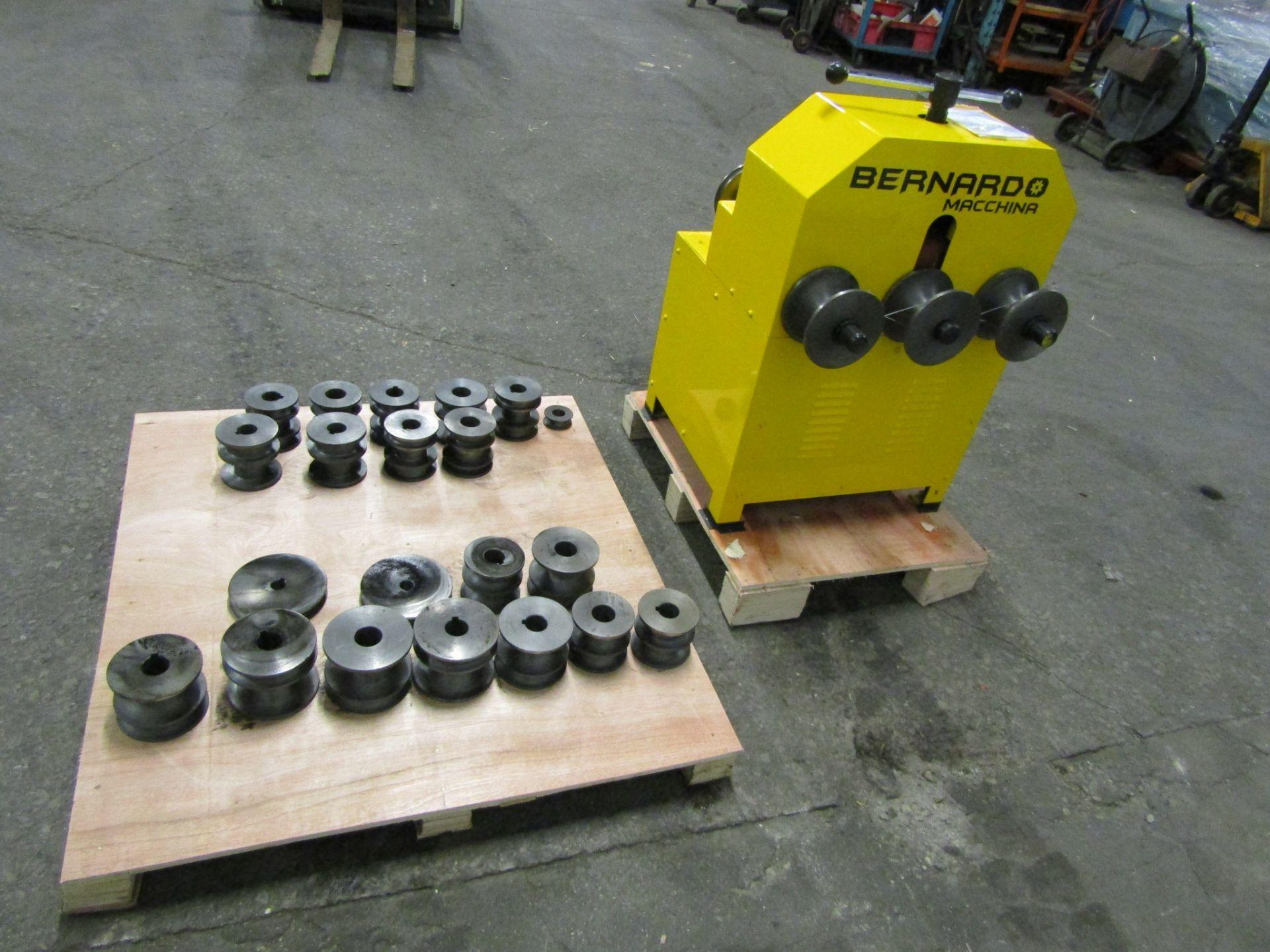 "Lot 238 - Bernardo Pyramid Angle Rolls Conduit Bender - Tube Bender with 22 dies 0.5-3"" capacity MINT / UNUSED"