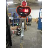 Hanging MINT Digital Crane Scale 40,000lbs 20 ton Capacity - complete with remote control and