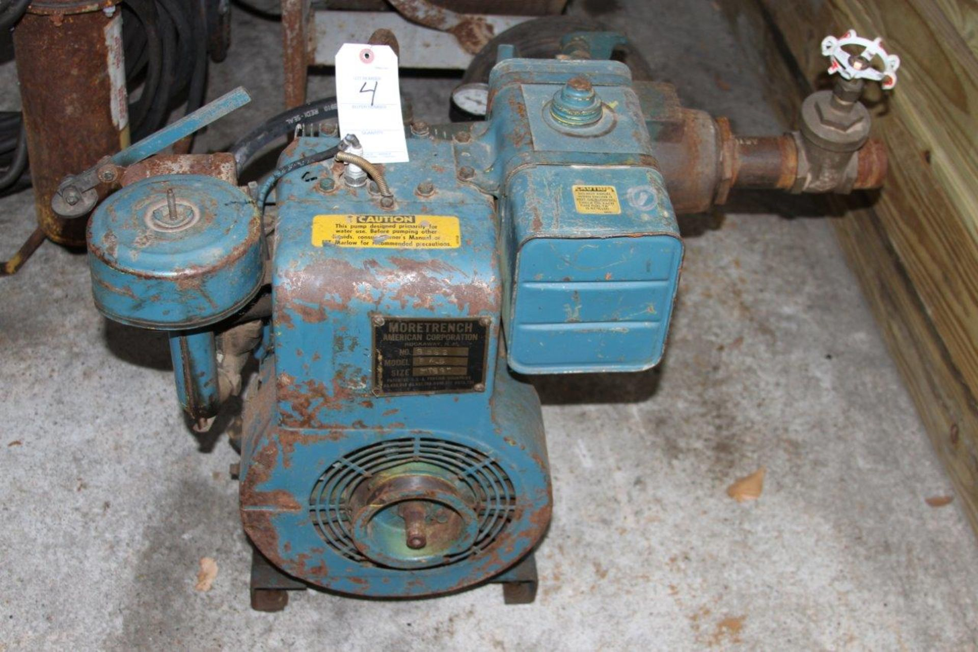 Lot 4 - Moretrench Model B/S 3 Inch Water Pump