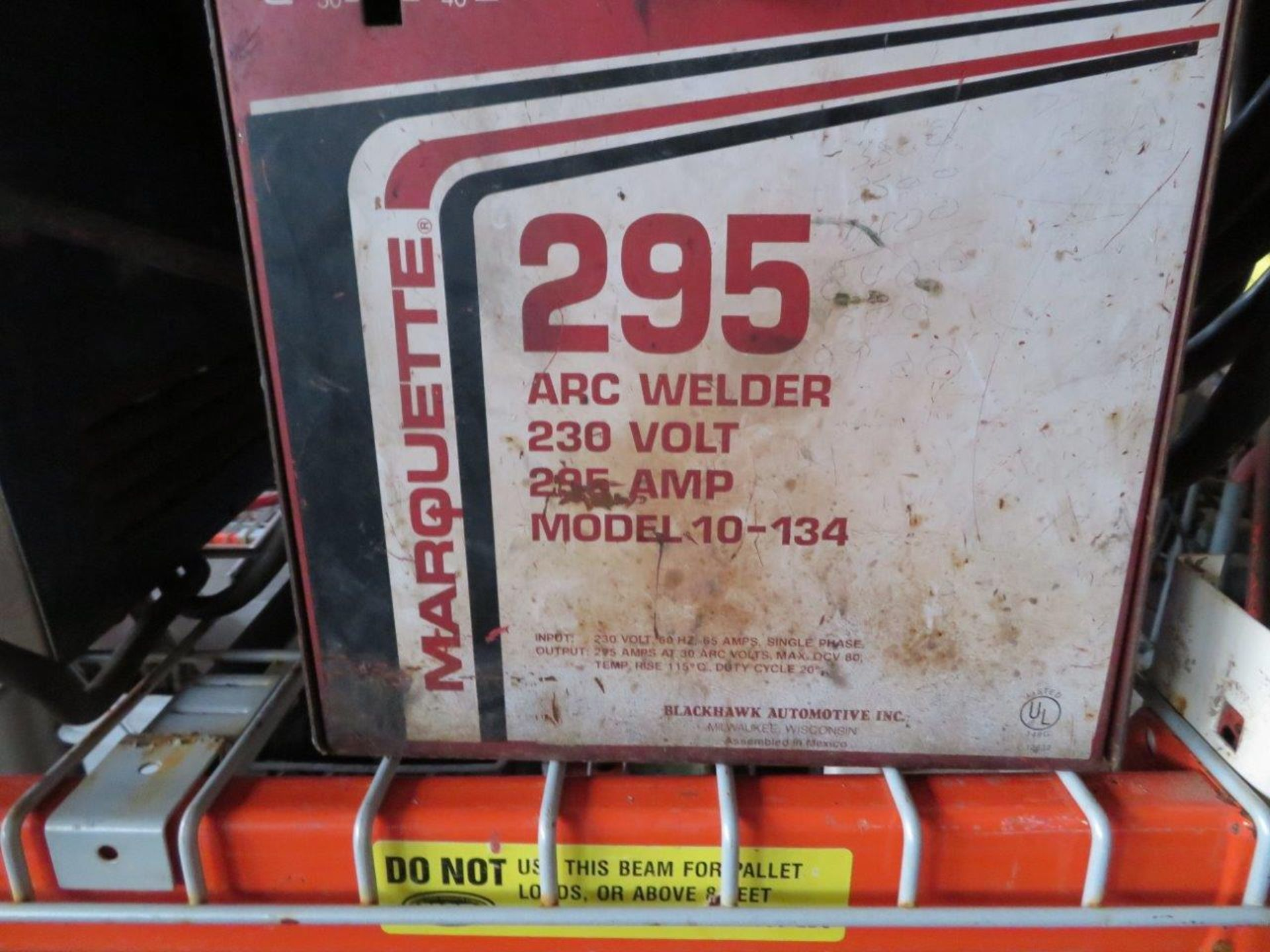 Lot 53 - Marquette 295 Arc Welder - Model 10-134