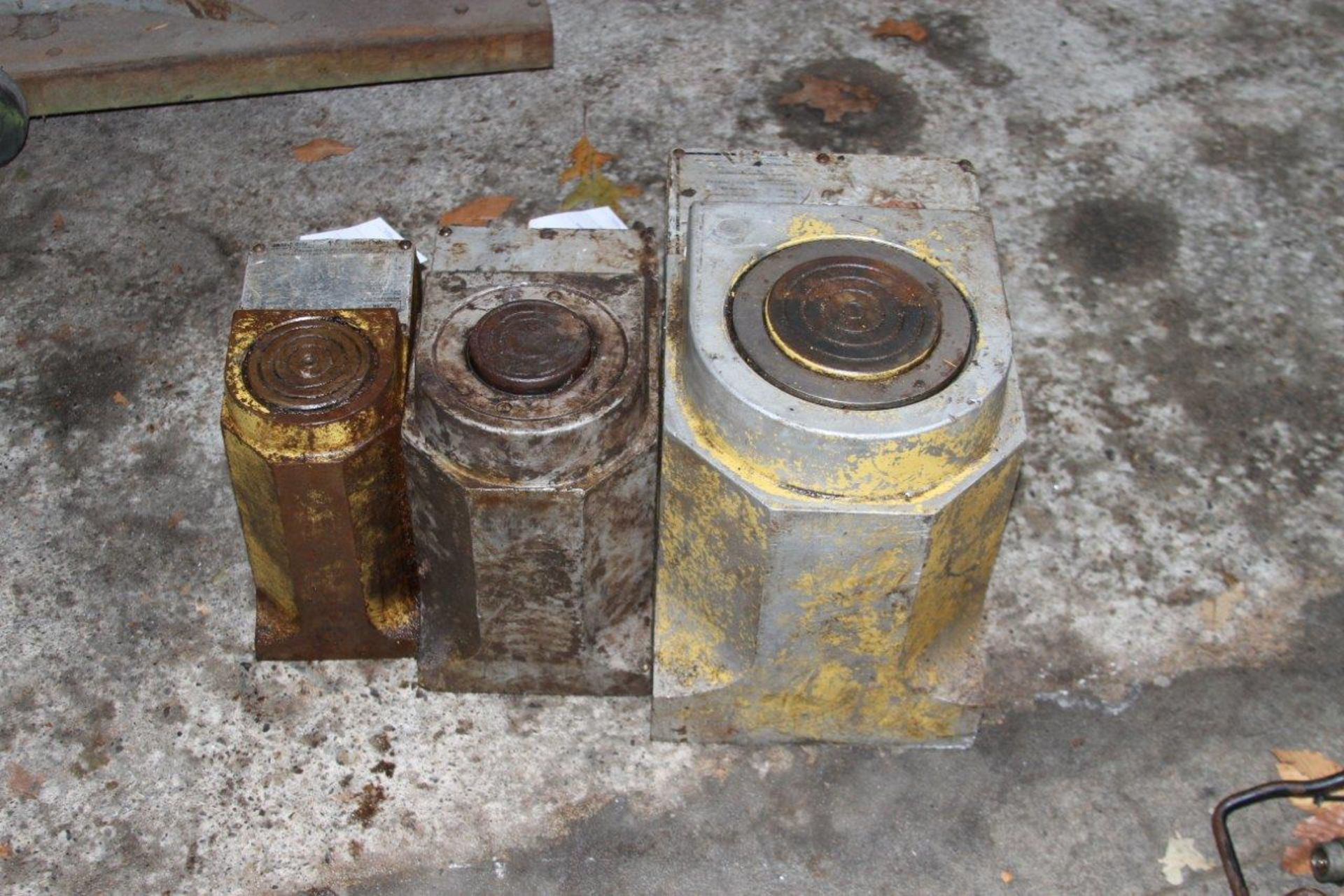 Lot 5 - Assorted Enerpac Safe-T-Lite Pumps. Includes a 100 Ton and a 50 Ton Unit.