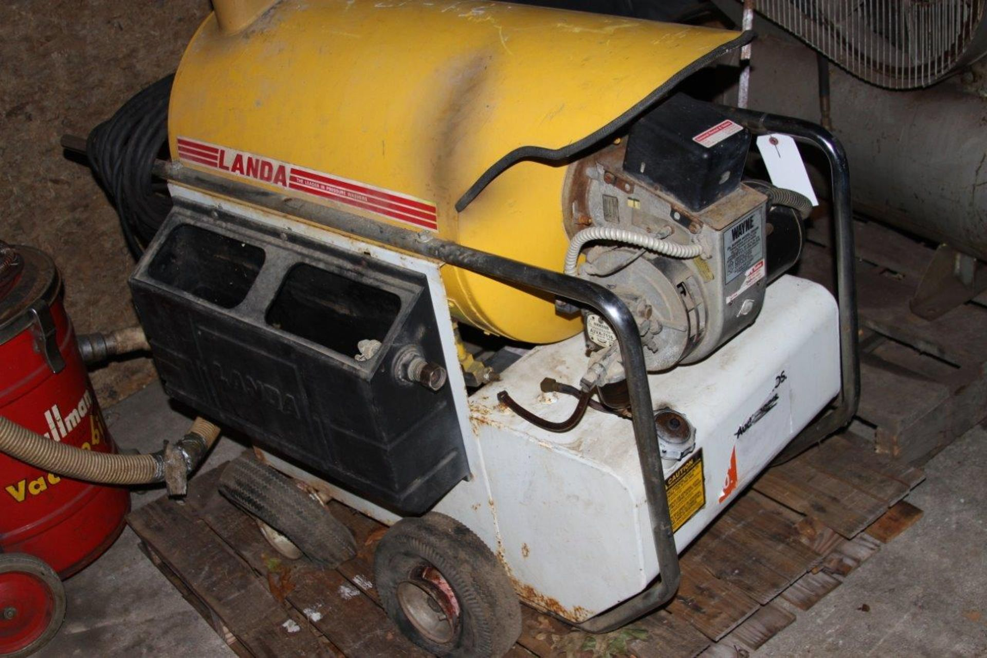 Lot 8 - Electric/ Diesel Heated Landa Pressure Washer P/N 2-11011D