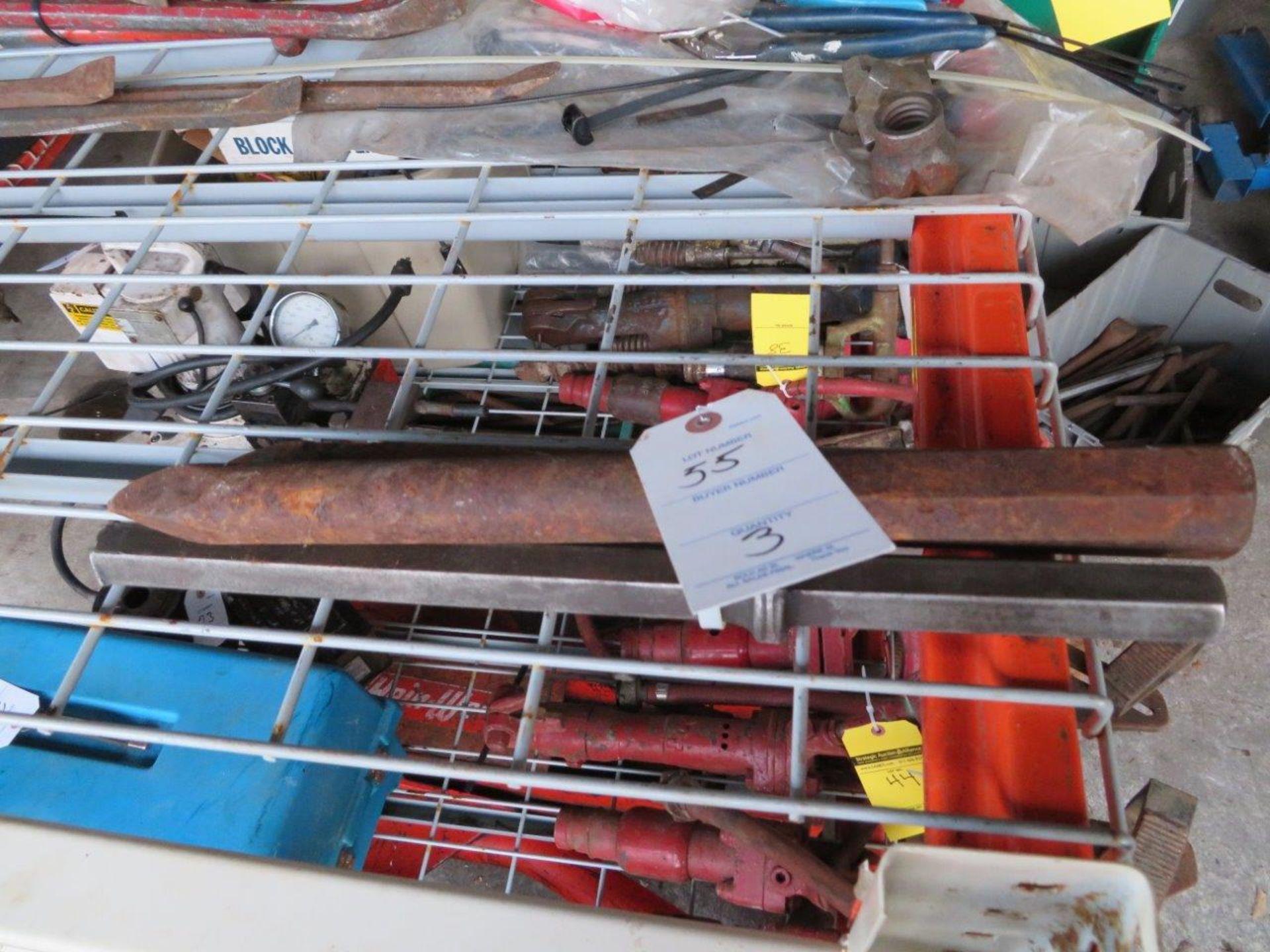 Lot 55 - (3) Large Jackhammer Bits, assorted