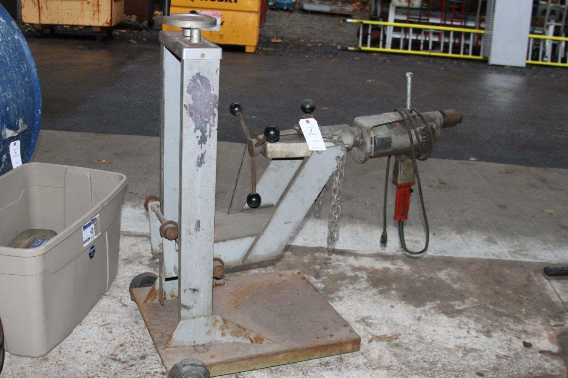"""Lot 1 - Large Zip Cut Frame Drill with 3/4"""" Milwaukee Drill"""