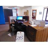 Lot 243 - (Lot) Front Desk w/ Lobby Furniture & PC