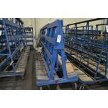 "Approx. 98""W x 72""T Heavy Duty Caster Glass Carts"