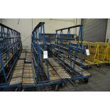 "Approx. 96""W x 74""T Heavy Duty Caster Glass Carts"