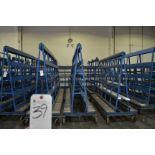 "A-Frame Glass Carts w/ Heavy Duty Casters 96""W x 94""T"