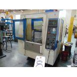 Kia mod. V25P, CNC Vertical Machine Center w/ Shuttle Pallets & Fanuc Series O-M Controls (No