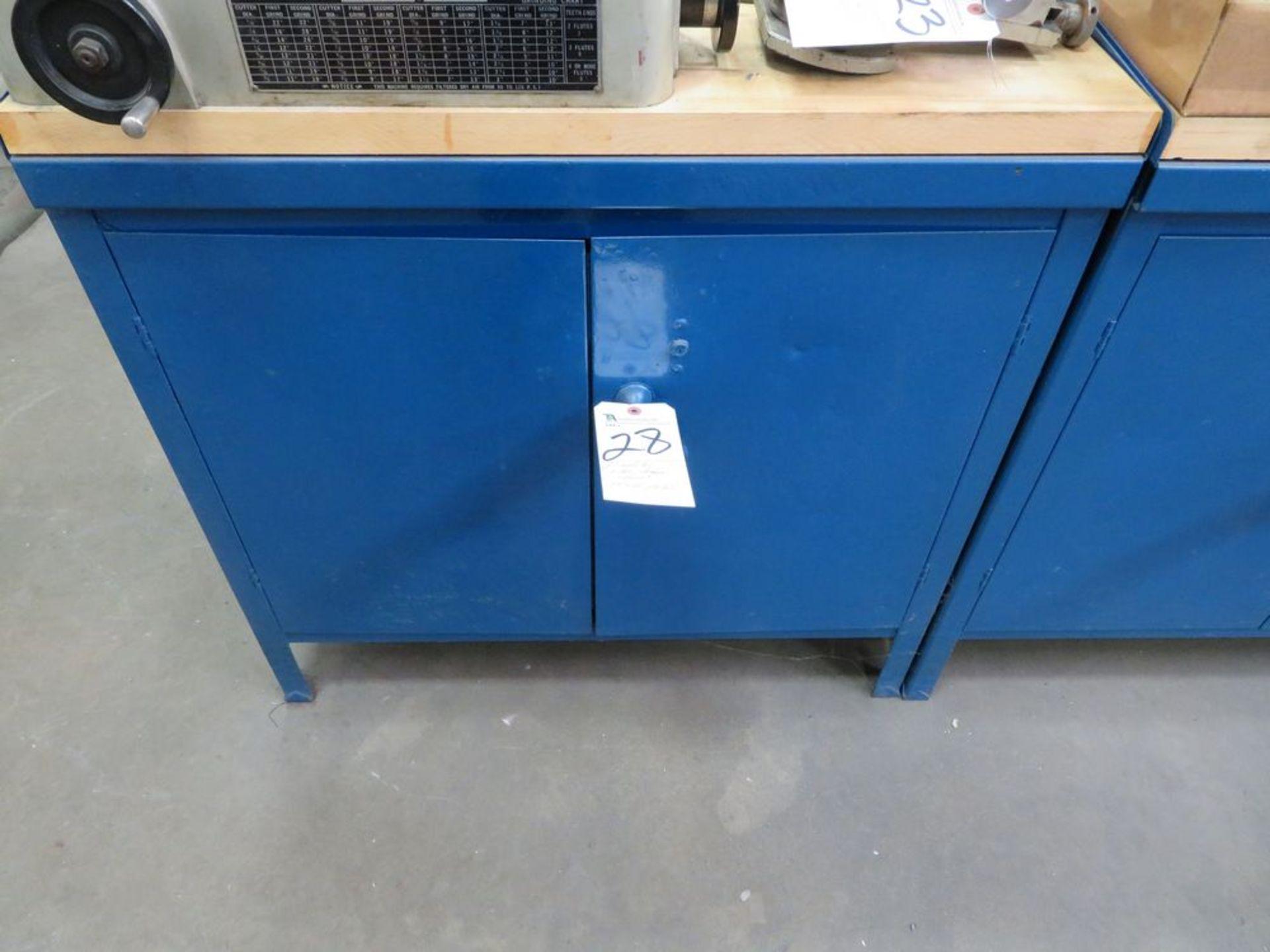 """Lot 28 - 2-Door Storage Cabinet w/ Wood Top, 24"""" x 36"""" x 36"""" Tall"""