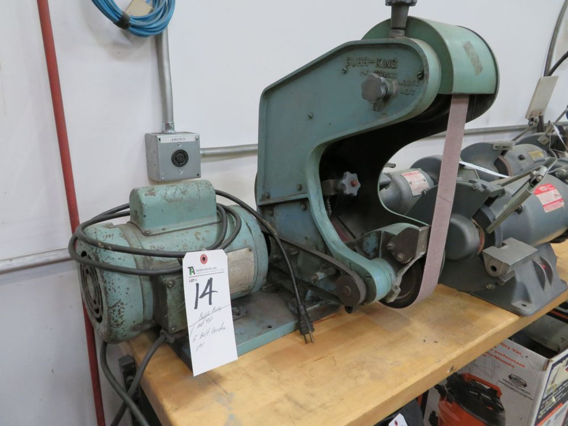 "Lot 14 - Burr-King mod. 482, 2"" Belt Sander, 1hp"