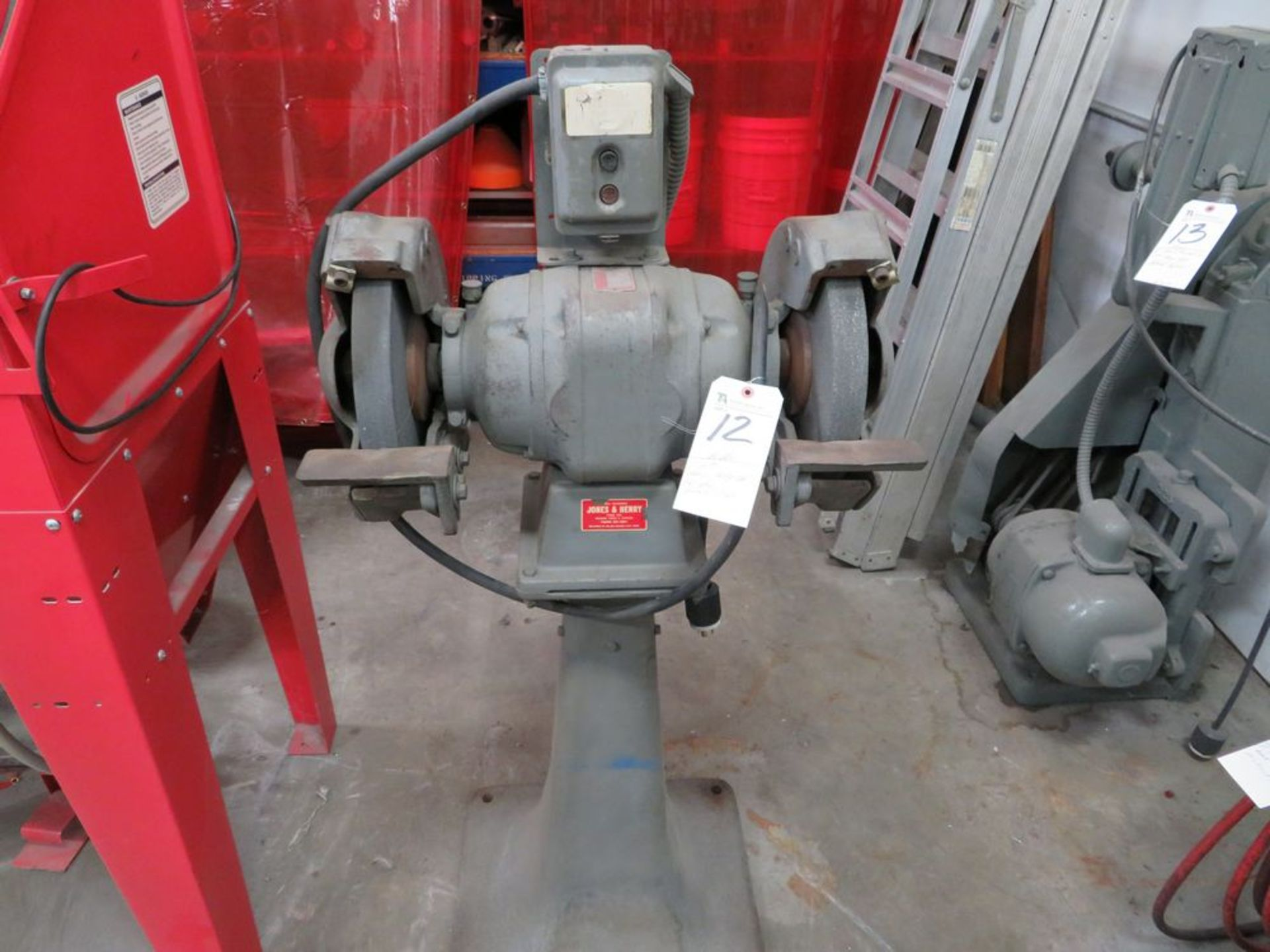 Lot 12 - Baldor 2hp Heavy Duty Dbl. End Grinder, Pedestal Type