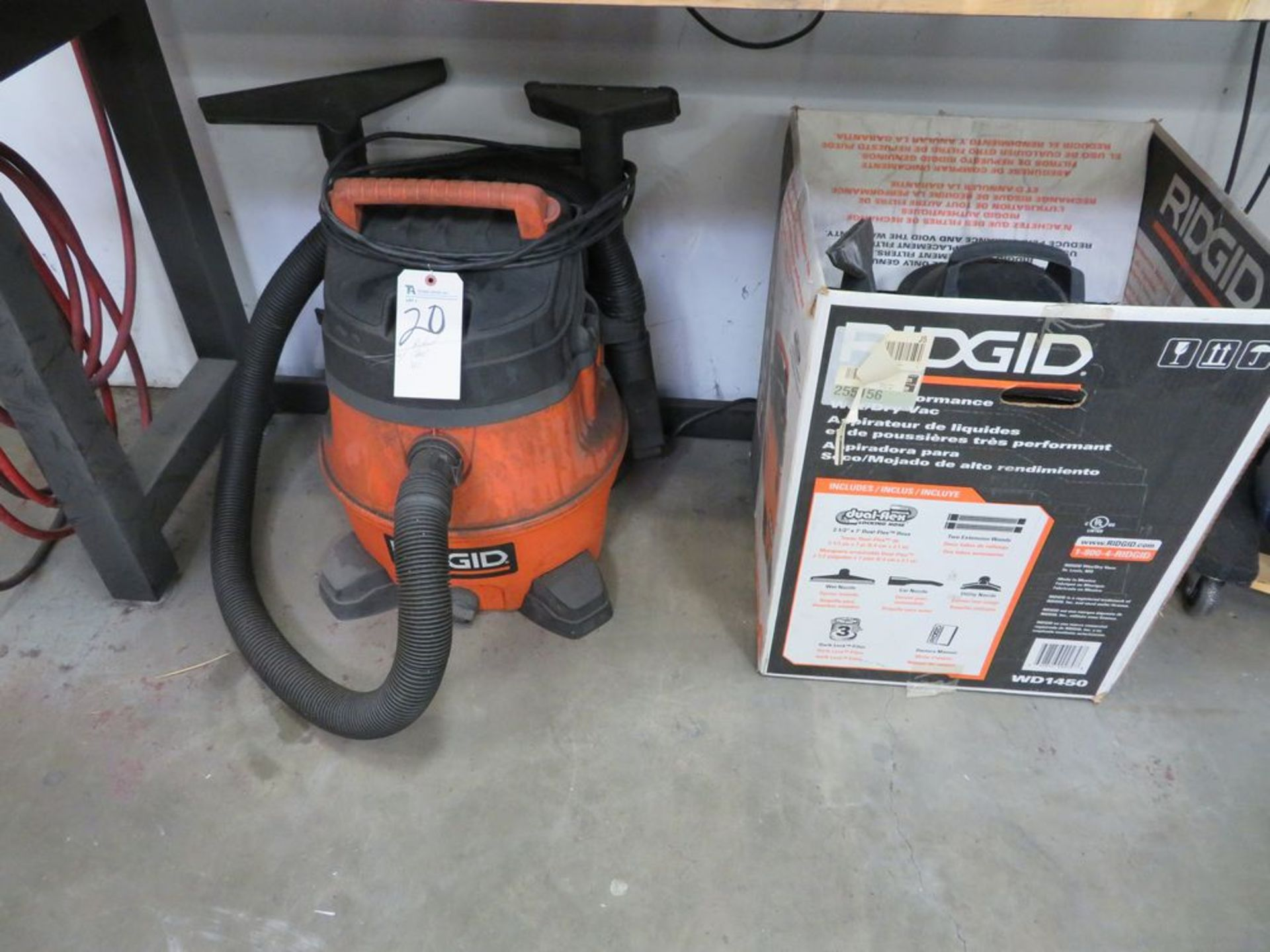Lot 20 - (Lot) Ridgid Shop Vacuum