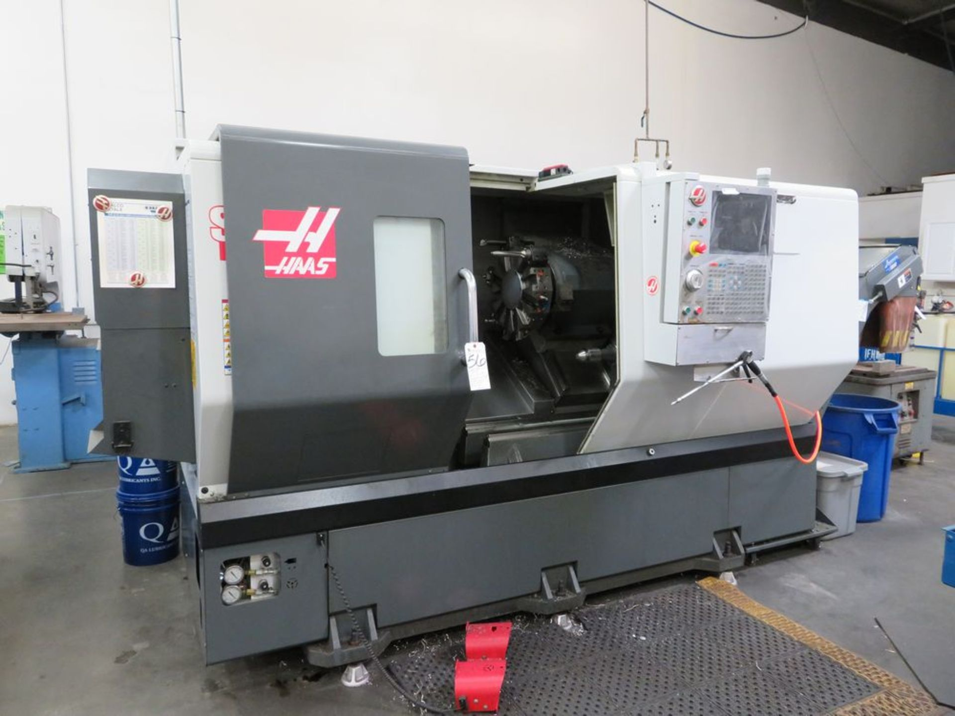 Lot 56 - (May 2013) Haas mod. ST30, CNC Turning Center w/ Chip Conveyor, Haas CNC Controls, Tail Stock, 12-