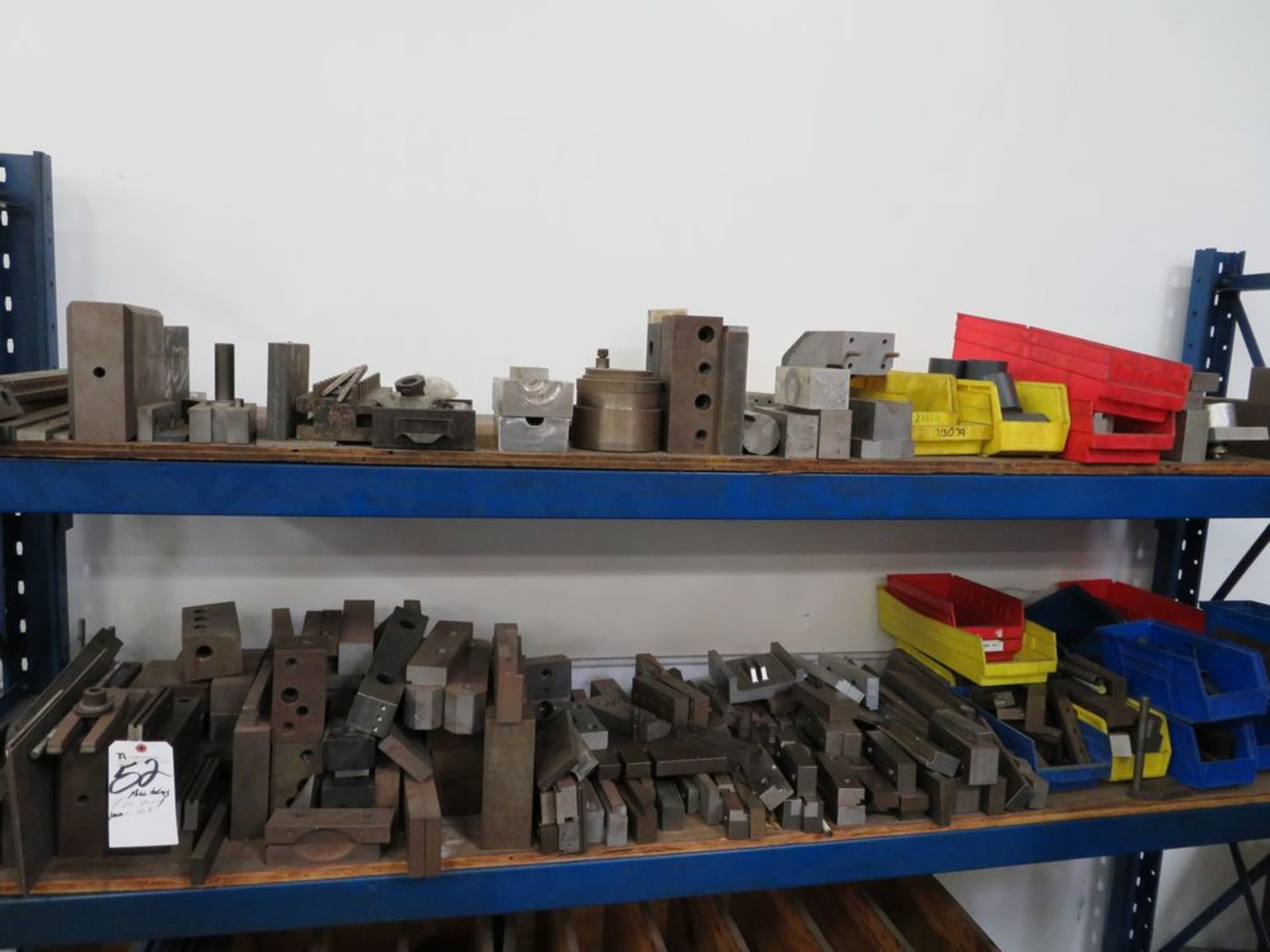 Lot 52 - (Lot) Misc Tooling & Vise Spacers on Rack