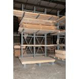 Double Sided Cantilever Rack approx. 16' Tall x 90 Inch Long, 47 1/2 Inch Arms, No Contents