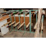 Steel Production Rack 49 Inch Tall x 73 1/2 Inch Wide 24 Inch Arms, No Contents