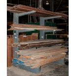 Single Sided Cantilever Rack Approx. 8' Tall x 76 Inch Long, 42 Inch Arms, No Contents