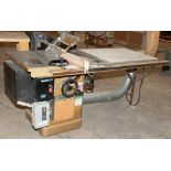 Powermatic Table Saw Model 66, s/n 93662221, Approx. 38 1/2 x 28 Table, w/ 35 x 28 Inch Extension