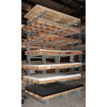Double Sided Cantilever Rack approx. 12' Tall x 77 1/2 Inch Long, 59 Inch Arms, No Contents