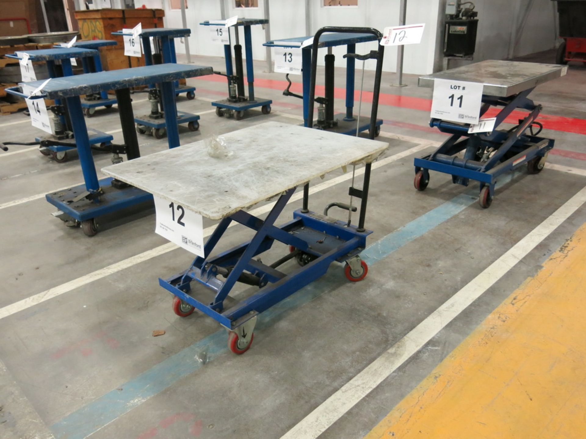 Lot 12 - Lift Table, 450 Lb Cap. Hydraulic Die Lift Cart