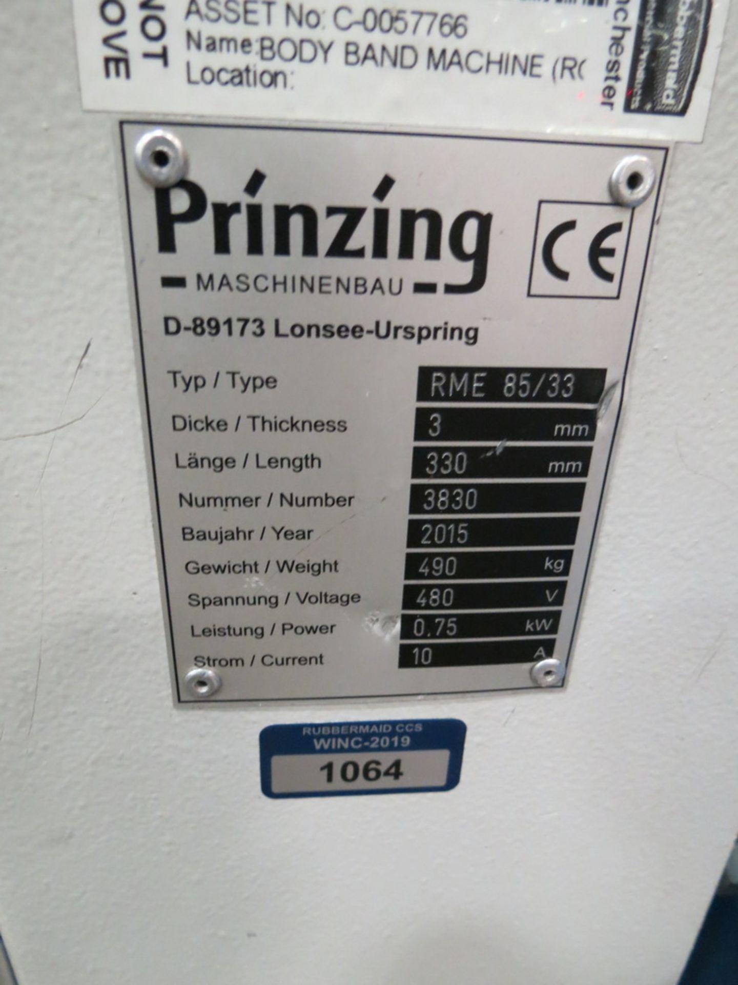 "Lot 54 - 2015 Prinzing Model RME85/33 Approx. 11.5"" Round 4-Roll Bender w/ Eaton Digital Controls"